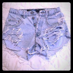 Levis Silver Tab Cutoff Shorts
